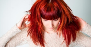 vibrant red haired woman